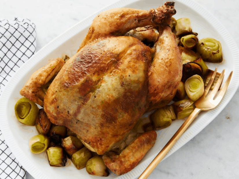 MATCHA ROAST CHICKEN (WITH LEEKS)