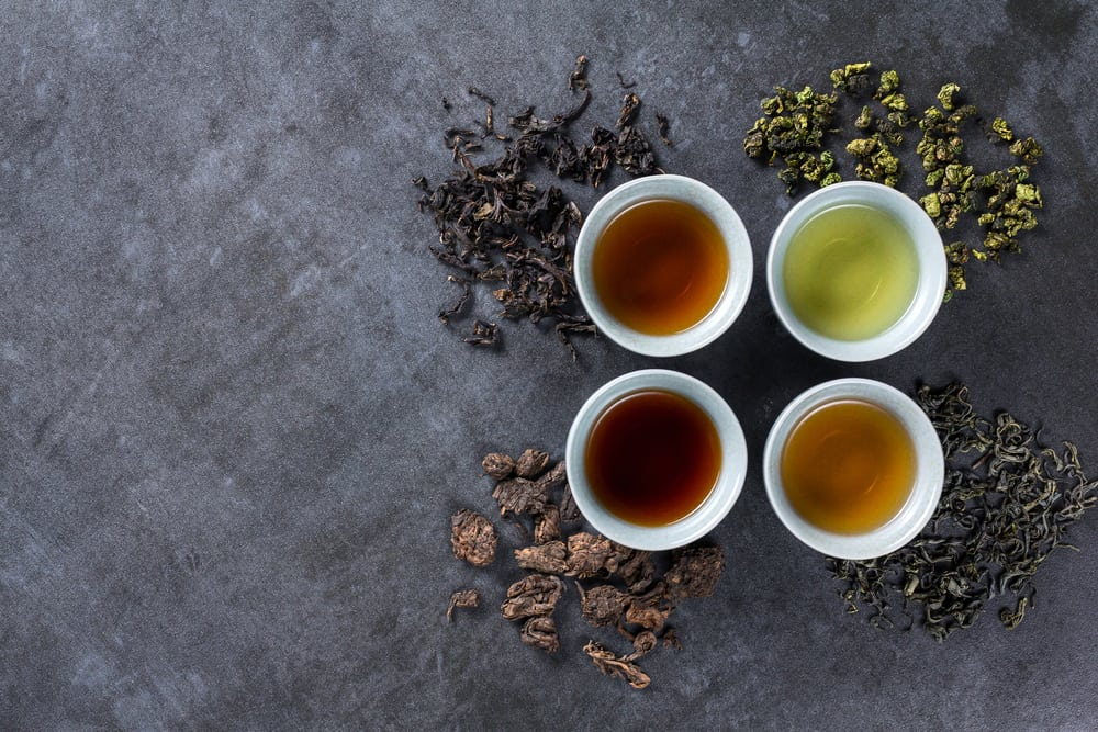 Different types of tea for ceremony
