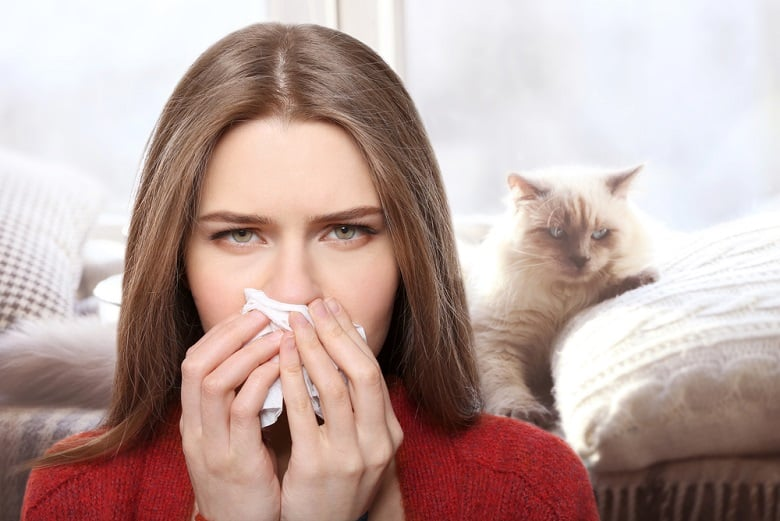 Allergies with pillow stuffing