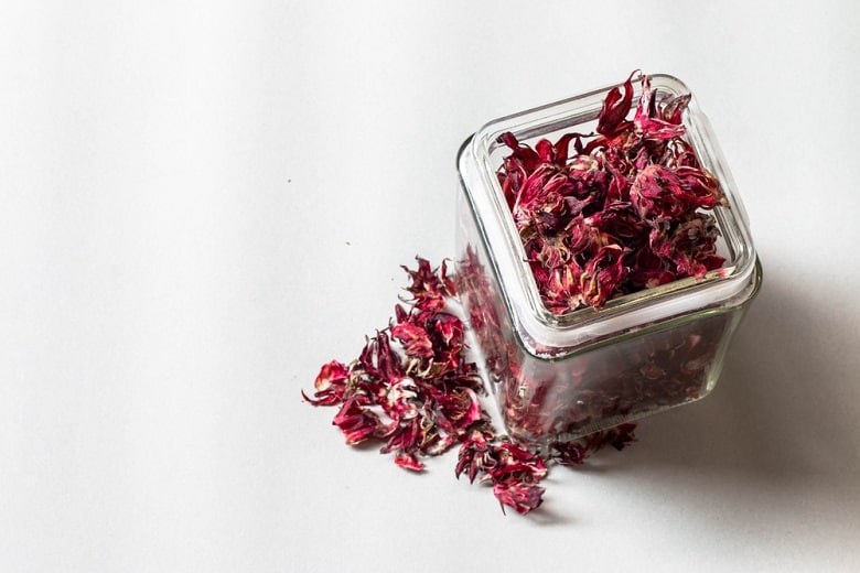 Hibiscus sabdariffa. The dried okra flower has medicinal properties.