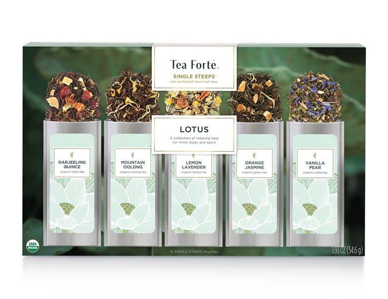 """Tea Forte LOTUS """"5"""" Loose Leaf Tea Varieties Pack"""