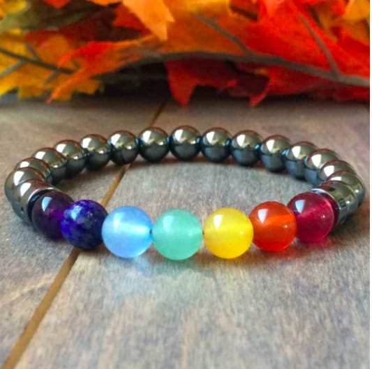 Bright And Oval Chakra Inspired Bracelet