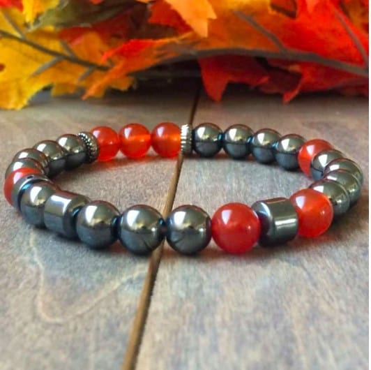 Silver And Red Chakra Bracelet