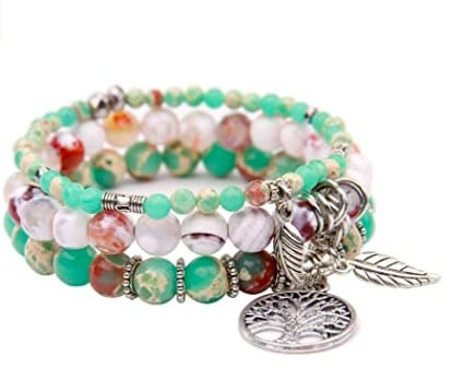 Small And Green Chakra Bracelet With Several Details