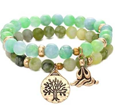 Beautiful Green Chakra Bracelet With Two Details