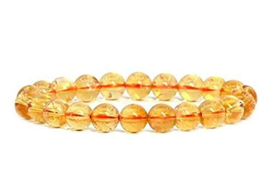 Golden And Yellow Inspired Chakra Bracelet With Oval Elements