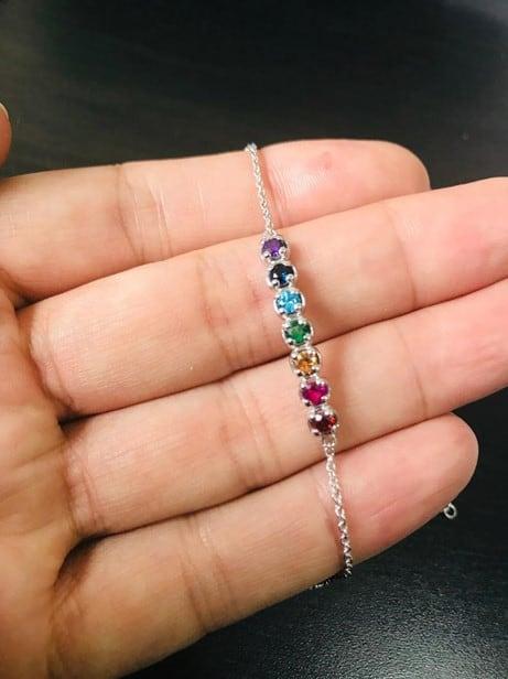 Minimalistic And Beautiful Chakra Colorful Bracelet