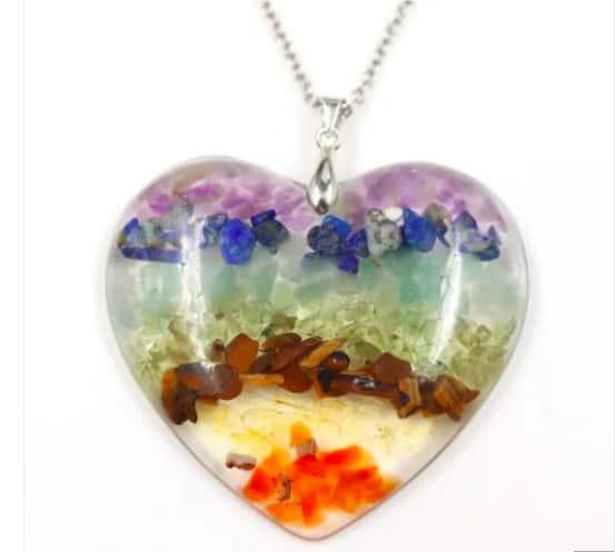 Gorgeous Heart Shaped Pendant Chakra Necklace
