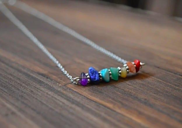 Beautiful And Colorful Chakra Necklace Minimalistic Design