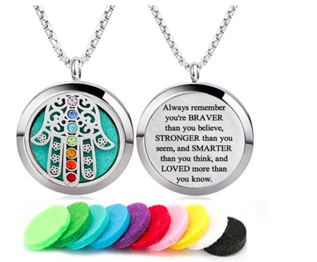 Chakra Necklace With Colorful Stones And A Quote