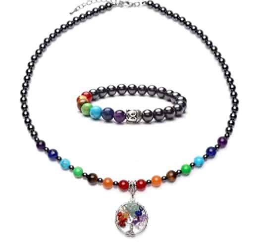 Chakra Necklace With A Chakra Bracelet Duo Pack