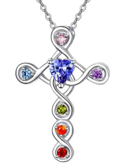 Silver Necklace With Loads Of Colorful Chakra Beads