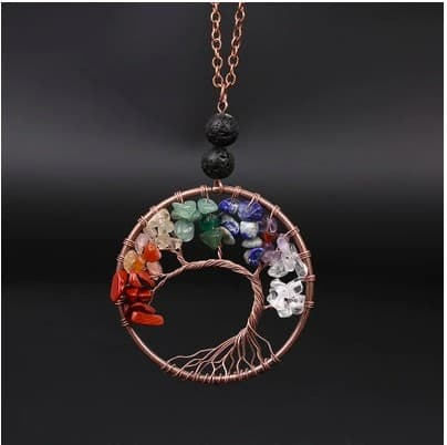 Beautiful And Colorful Tree Inspired Chakra Necklace