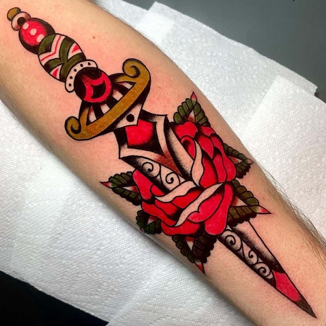 Dagger tattoo 3