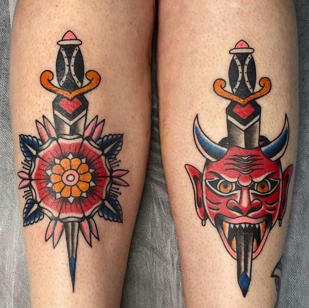 Dagger tattoo 4
