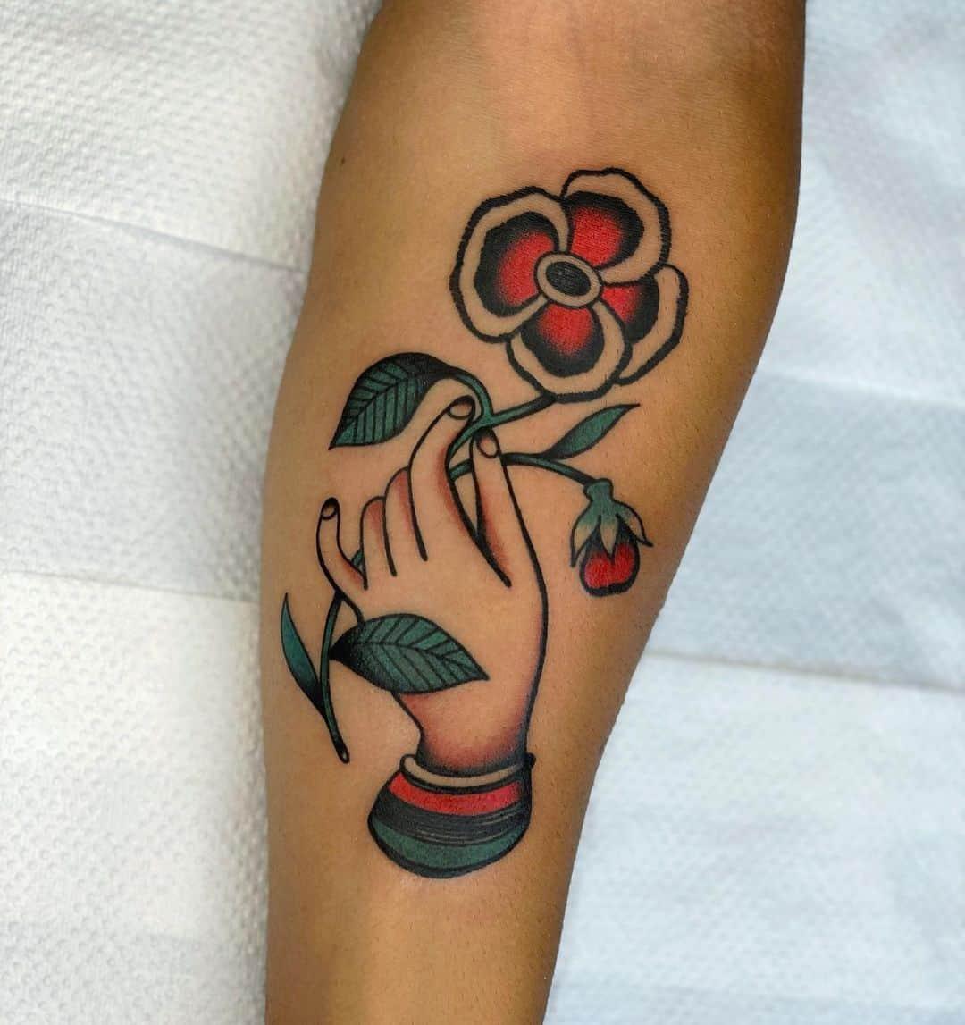 Flower vintage tattoo 4