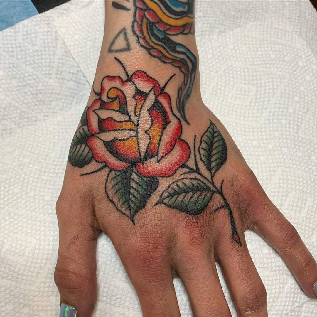 Flower vintage tattoo 5