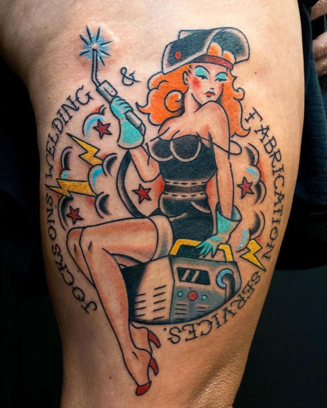 Pin-up girl tattoo 4