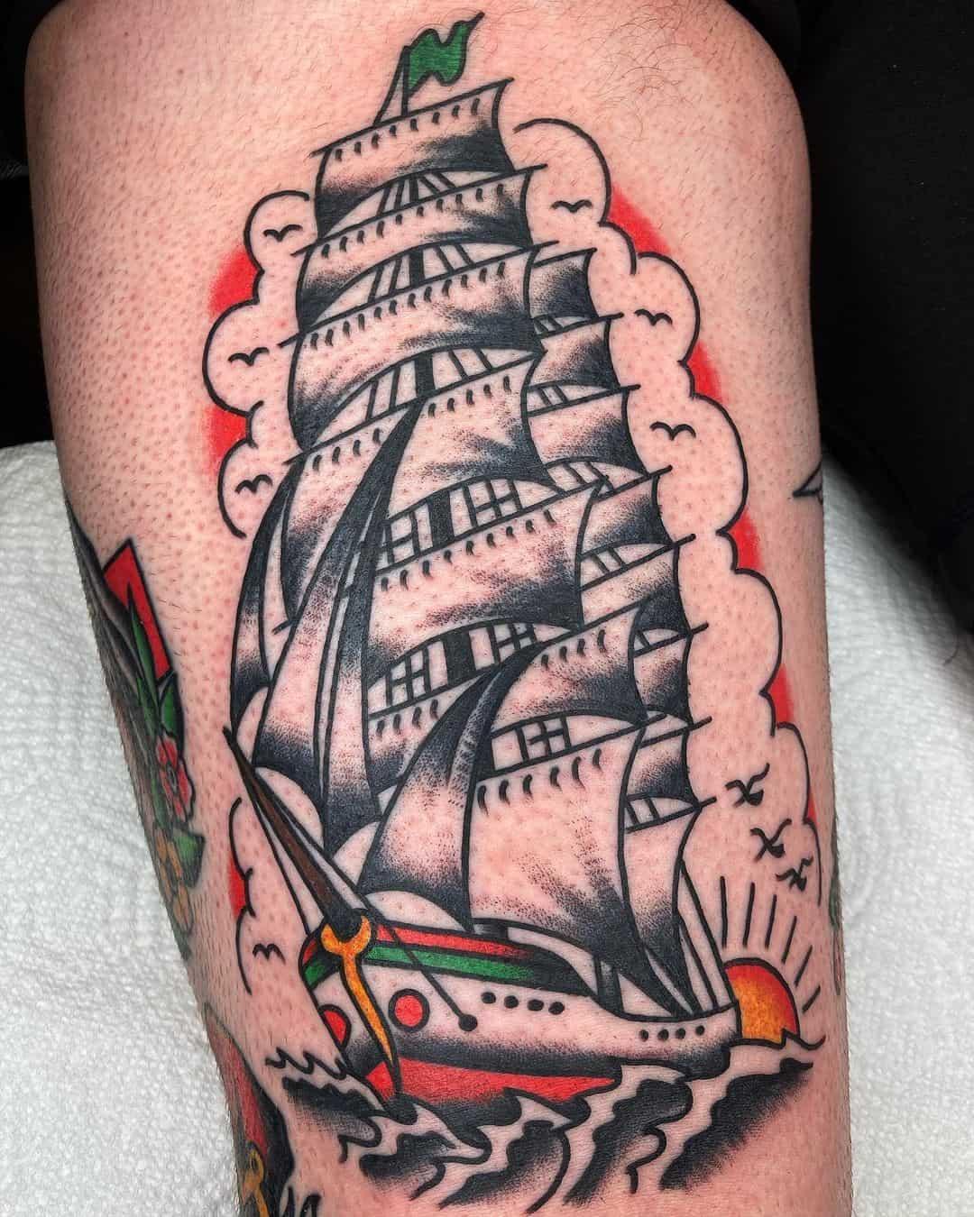 Ship tattoo 1