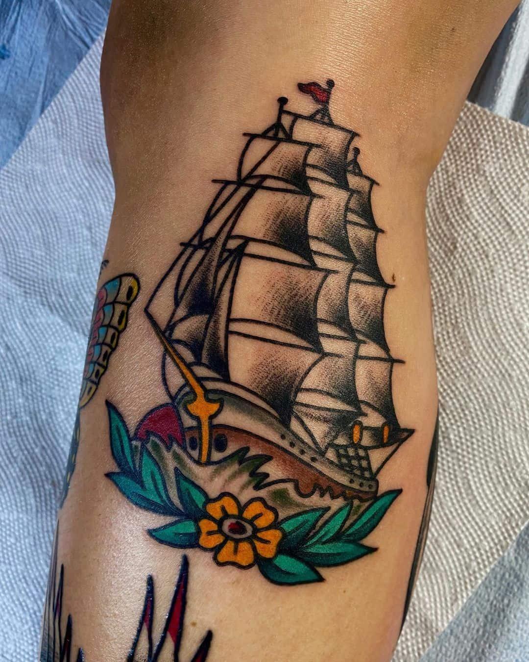Ship tattoo 2