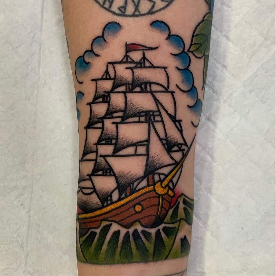 Ship tattoo 5