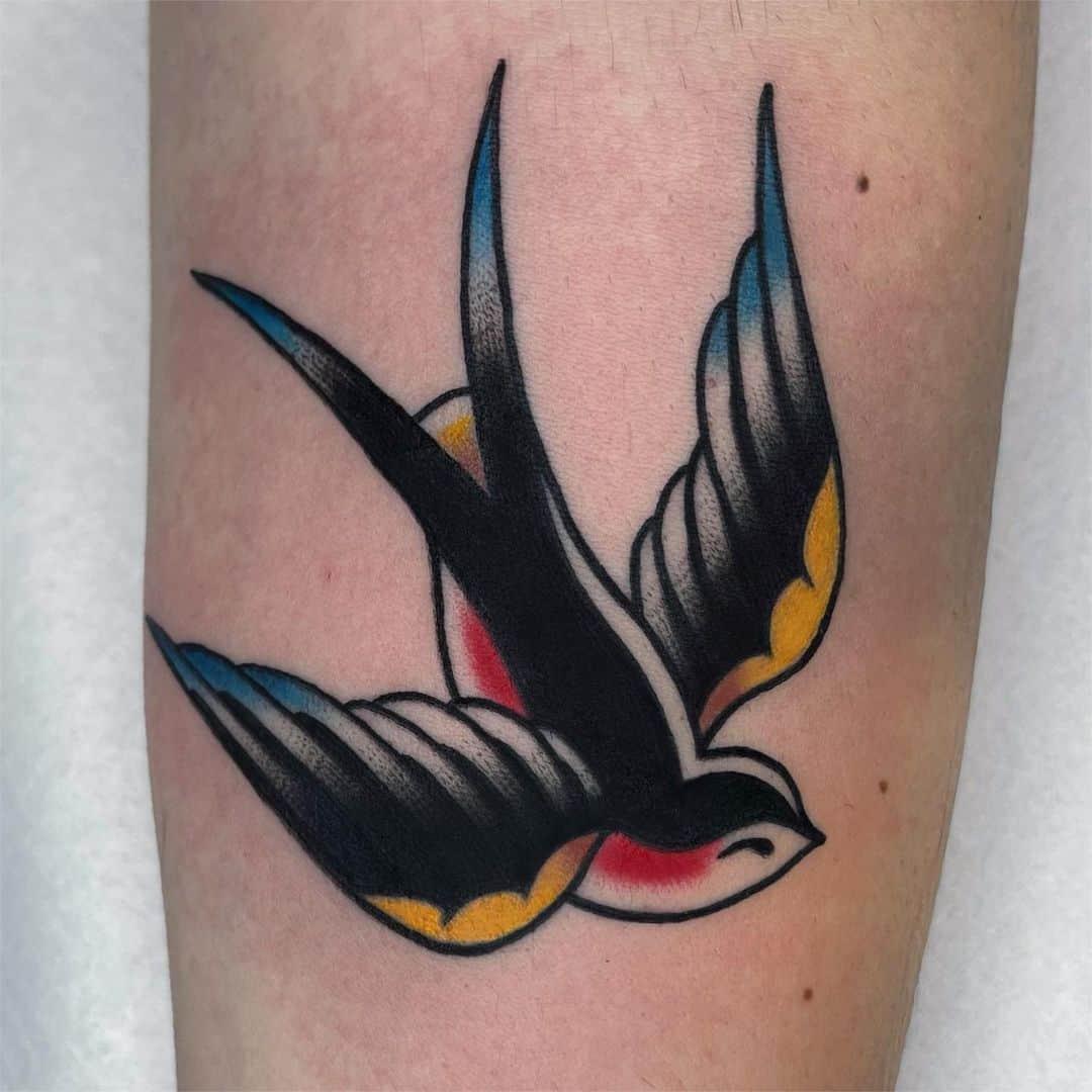 Swallow tattoo 3