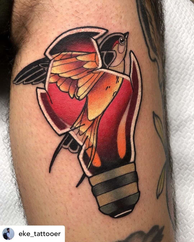 Swallow tattoo 4