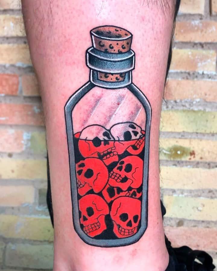 Vintage bottle tattoo 4