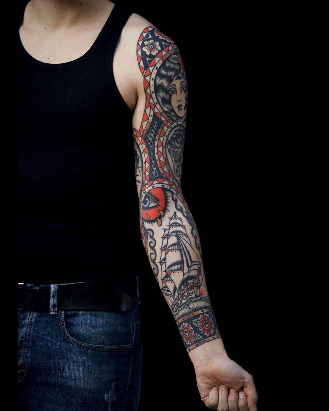 Vintage sleeve tattoo 1