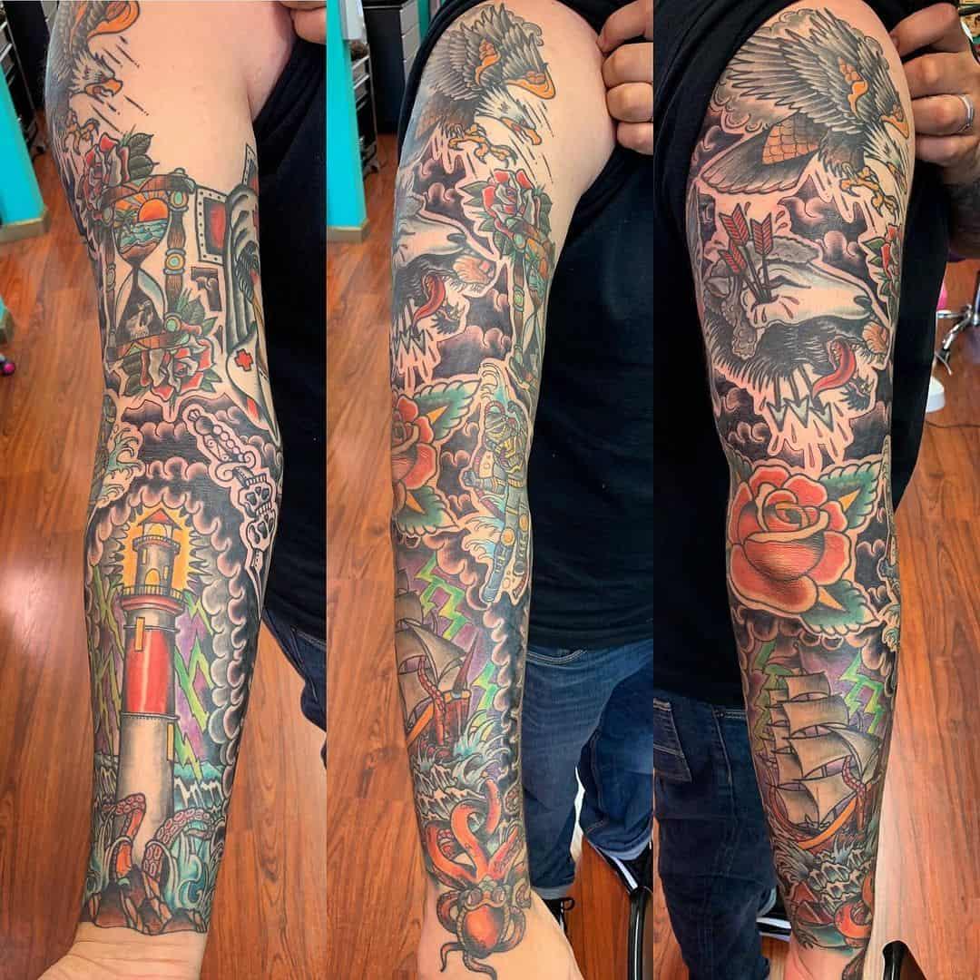 Vintage sleeve tattoo 2