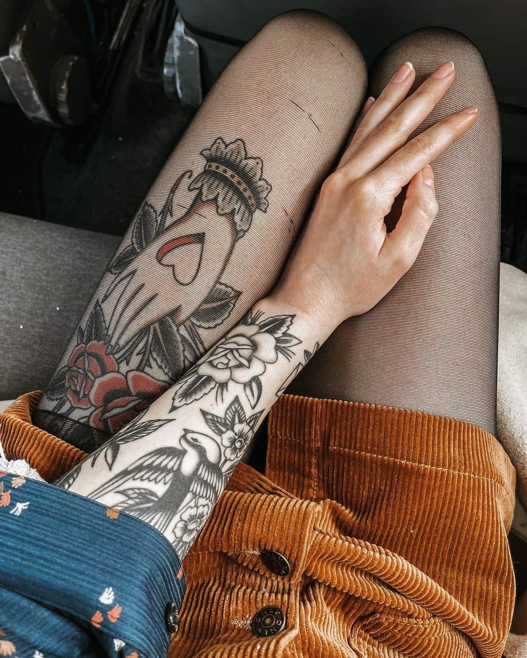 Vintage sleeve tattoo 4
