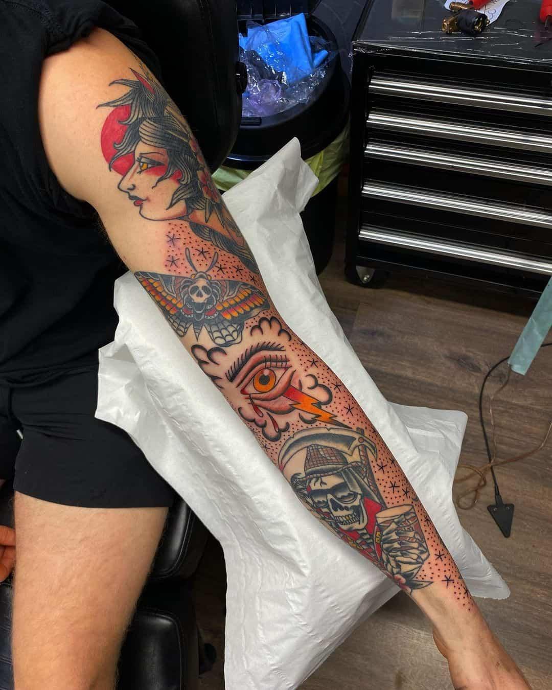 Vintage sleeve tattoo 5