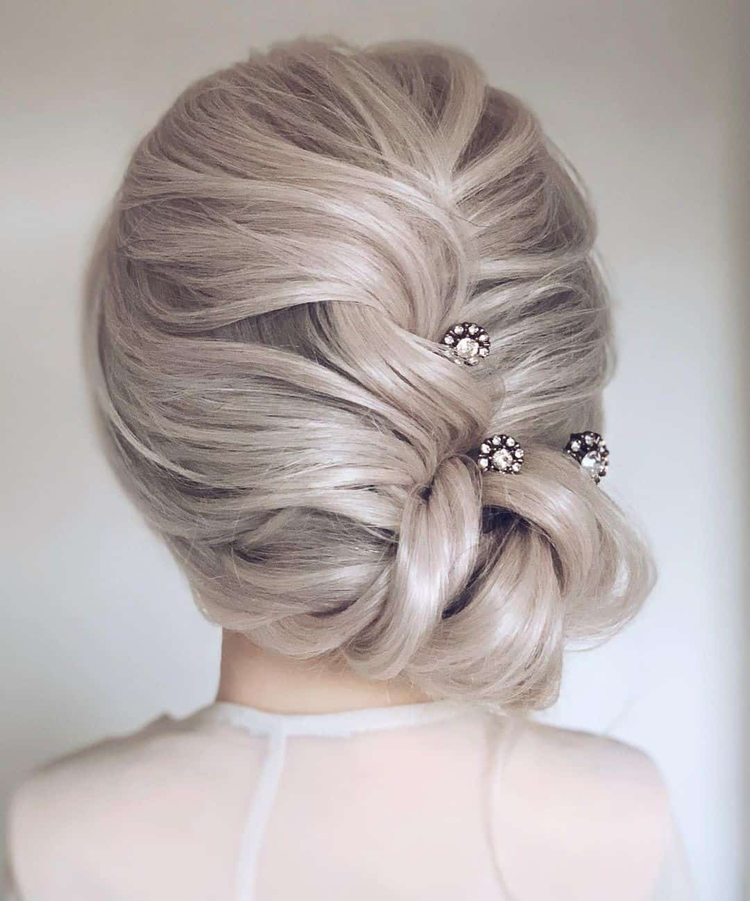 Blonde Silver Hair With Pins