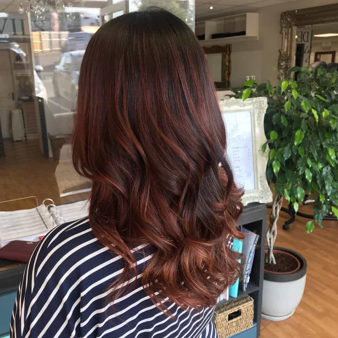 Chocolate Brown Hair Blowout
