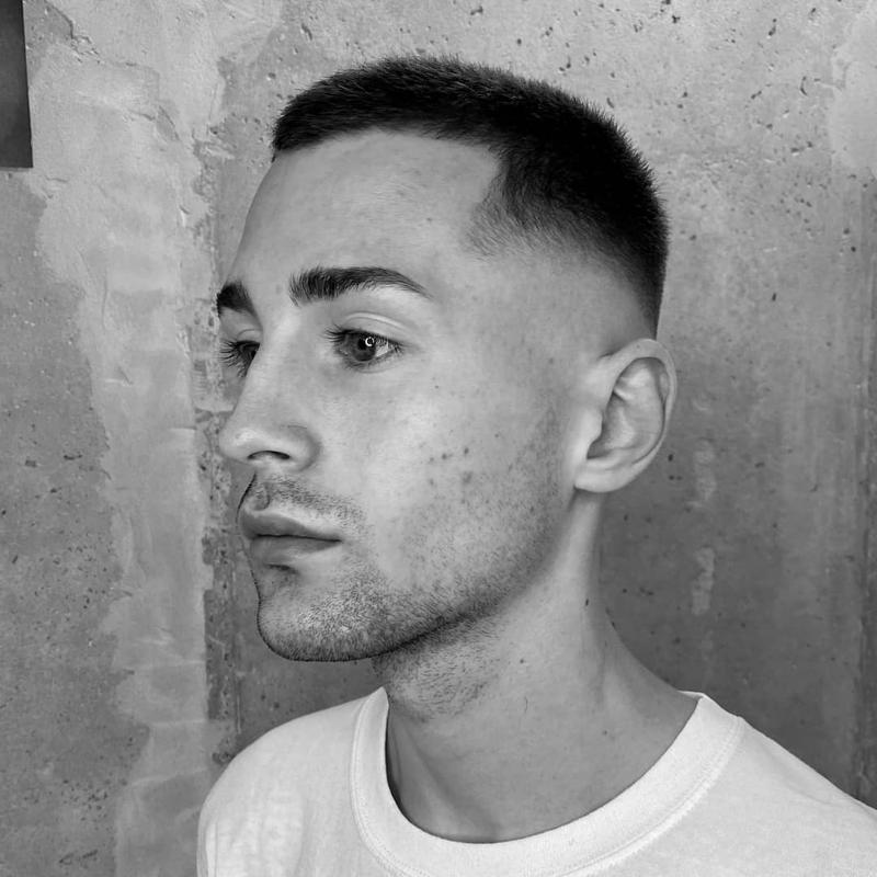 Crew Cut Hairstyles for Receding Hairline 1