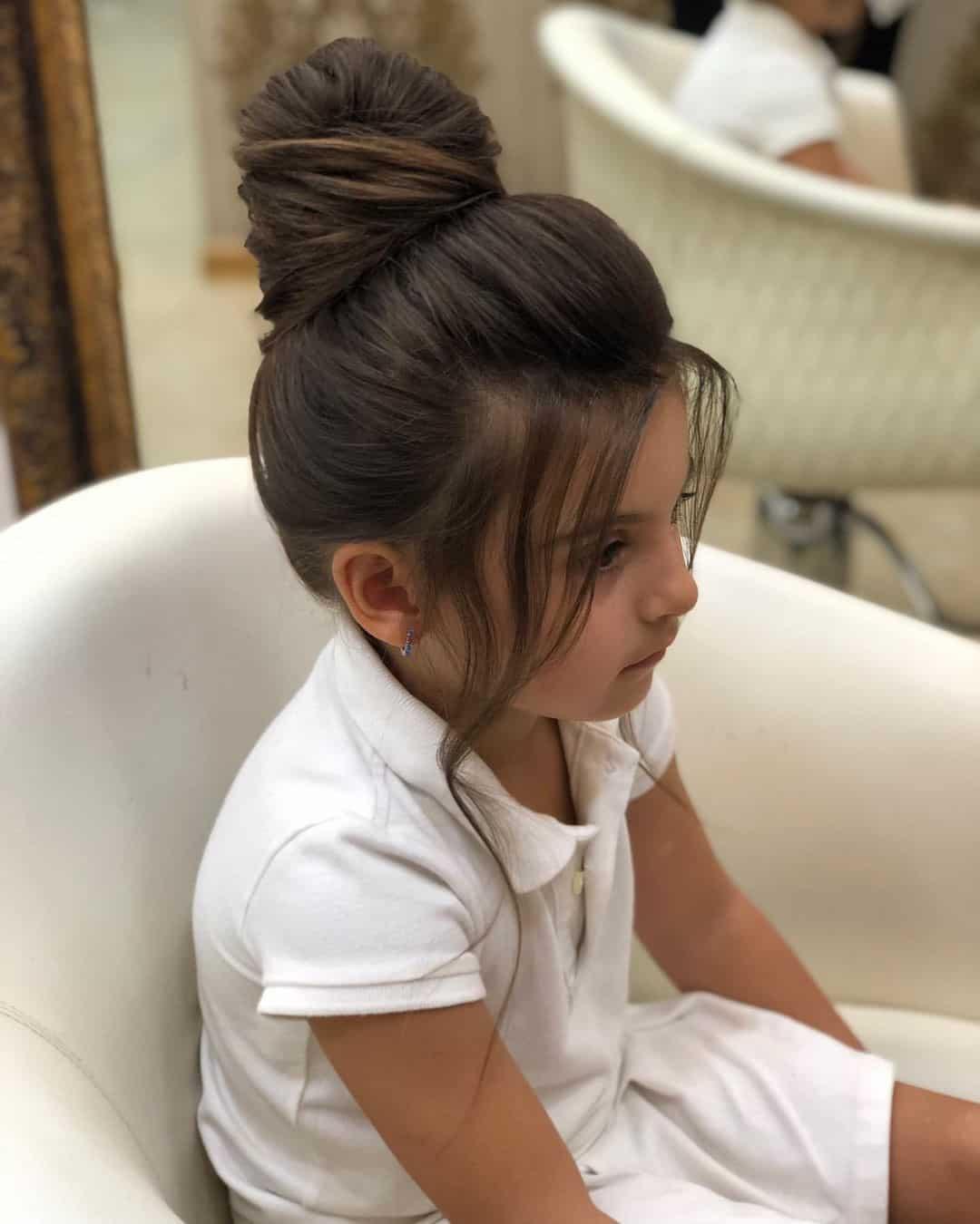 Cute Little Girl Haircuts Bun Idea