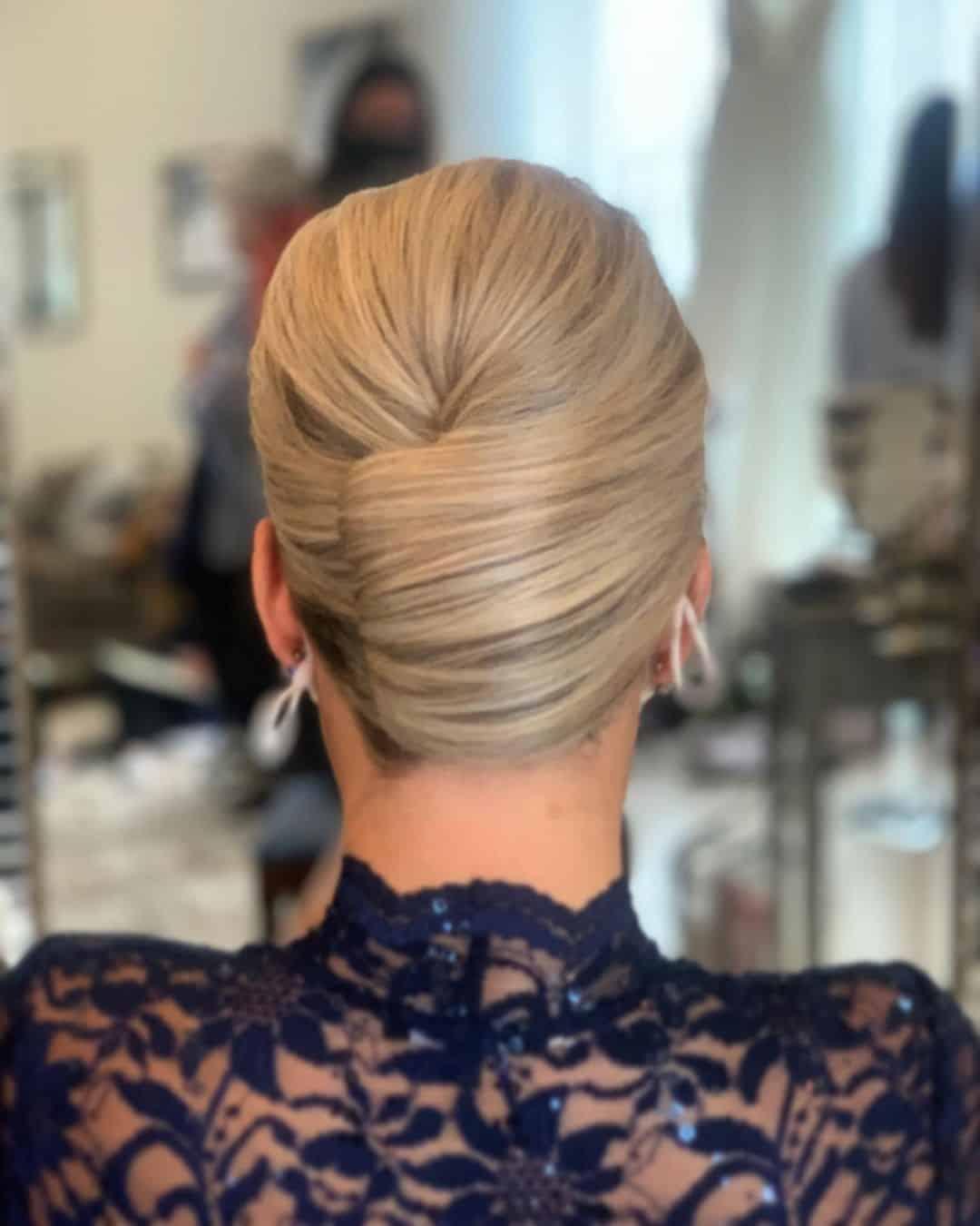 Formal Blonde Twisted Bun