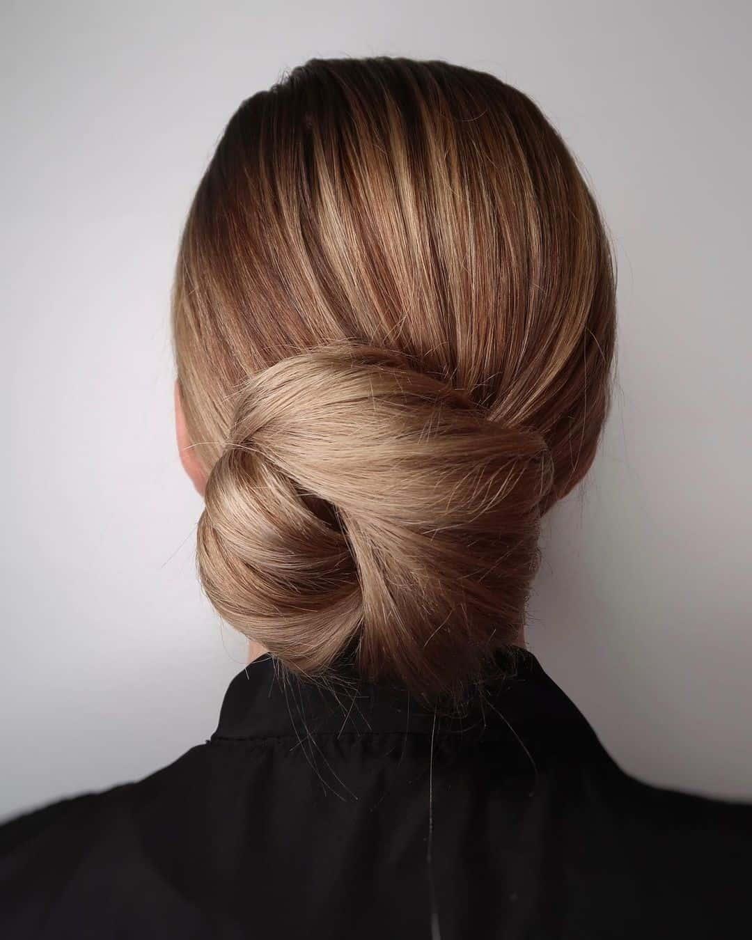 Formal Chignon Light Hair