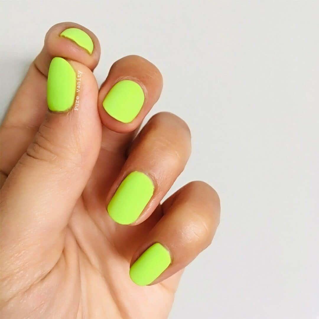 Hot Neon Matte Nails