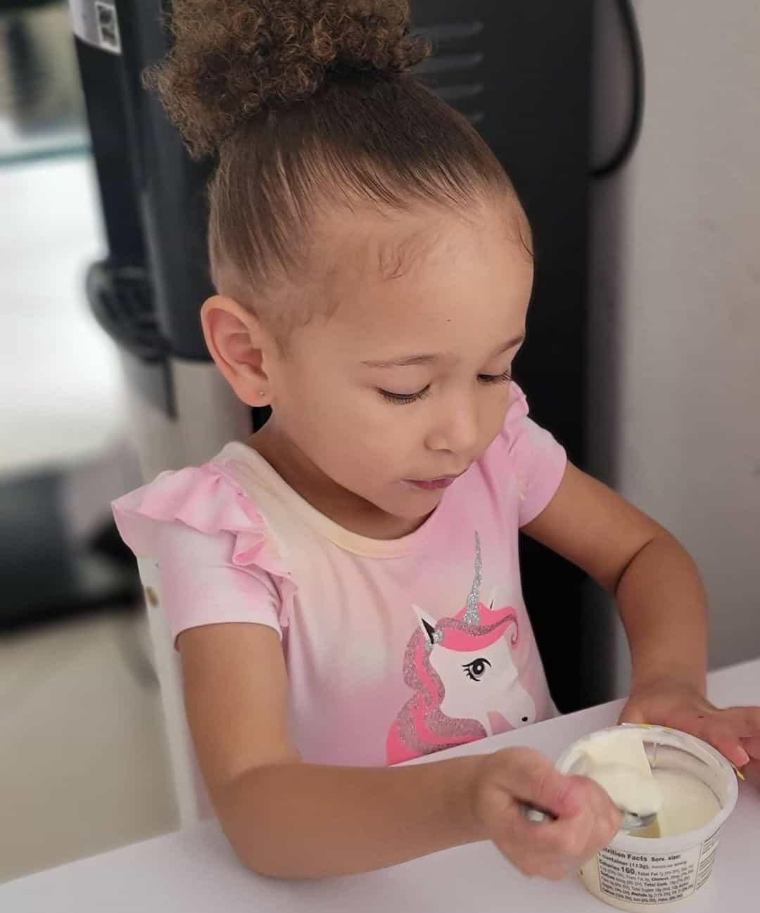 Little Girl Haircuts Curly Bun