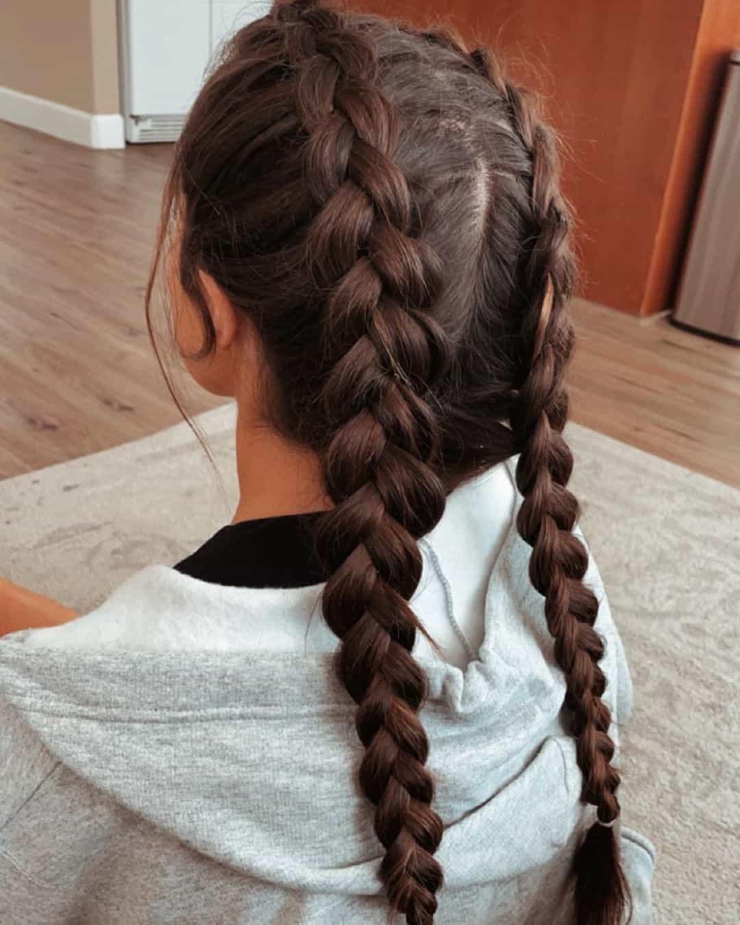 Little Girl Haircuts Two Braids