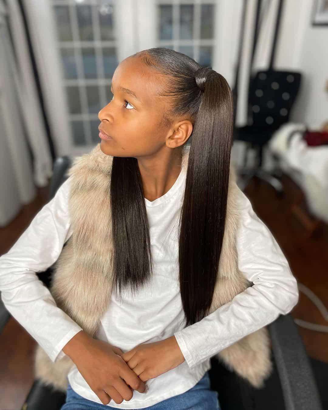 Long Pigtail Idea Sleek Hair