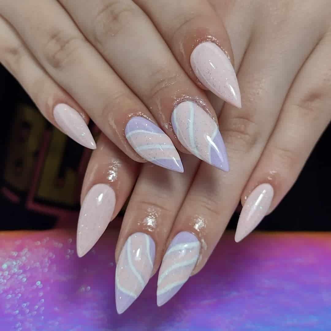 Nail Art Combination Stiletto Nails