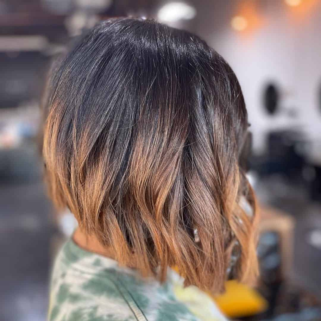 Ombre Cut With Waves