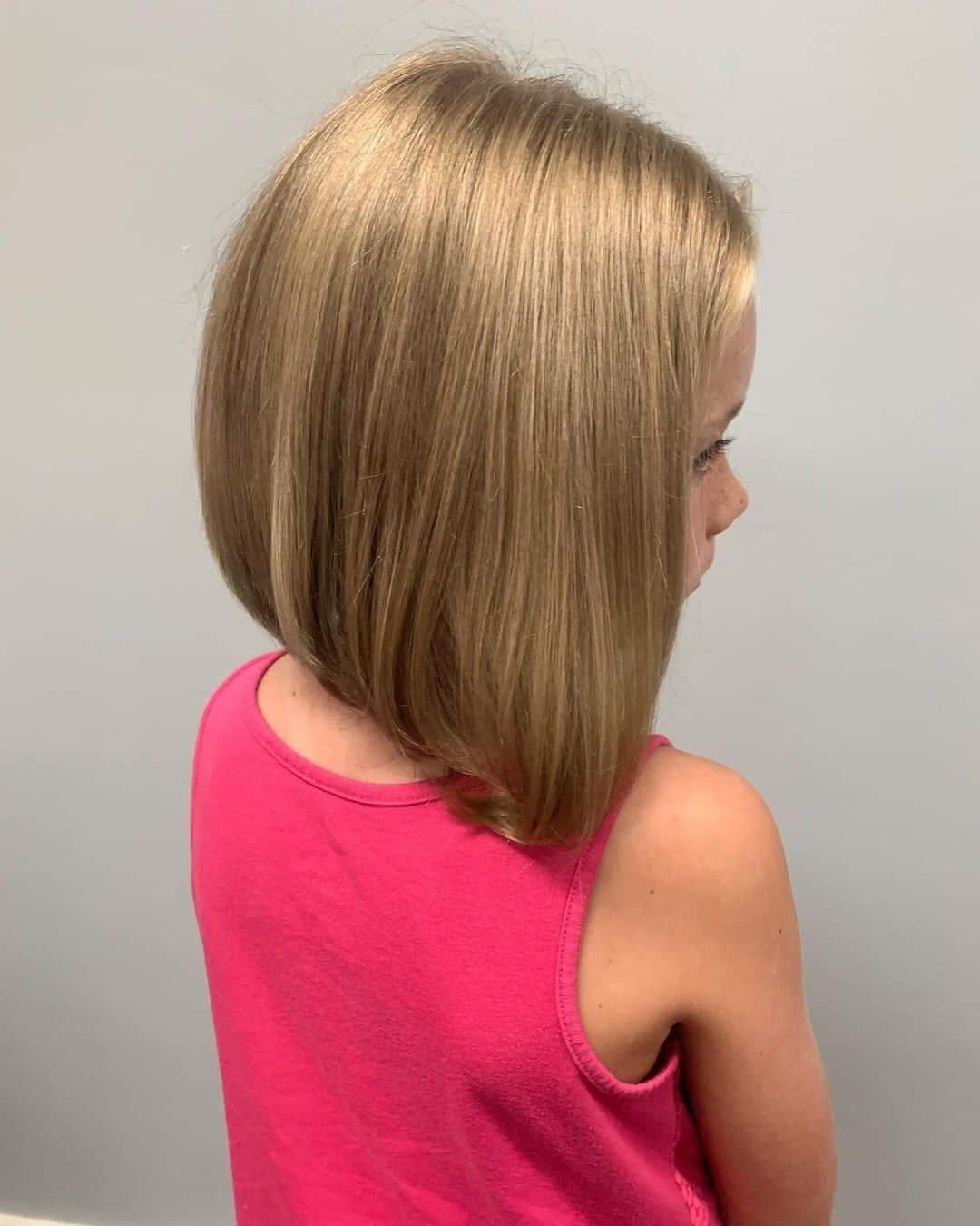 Sharp Bob Blonde Girl Cut