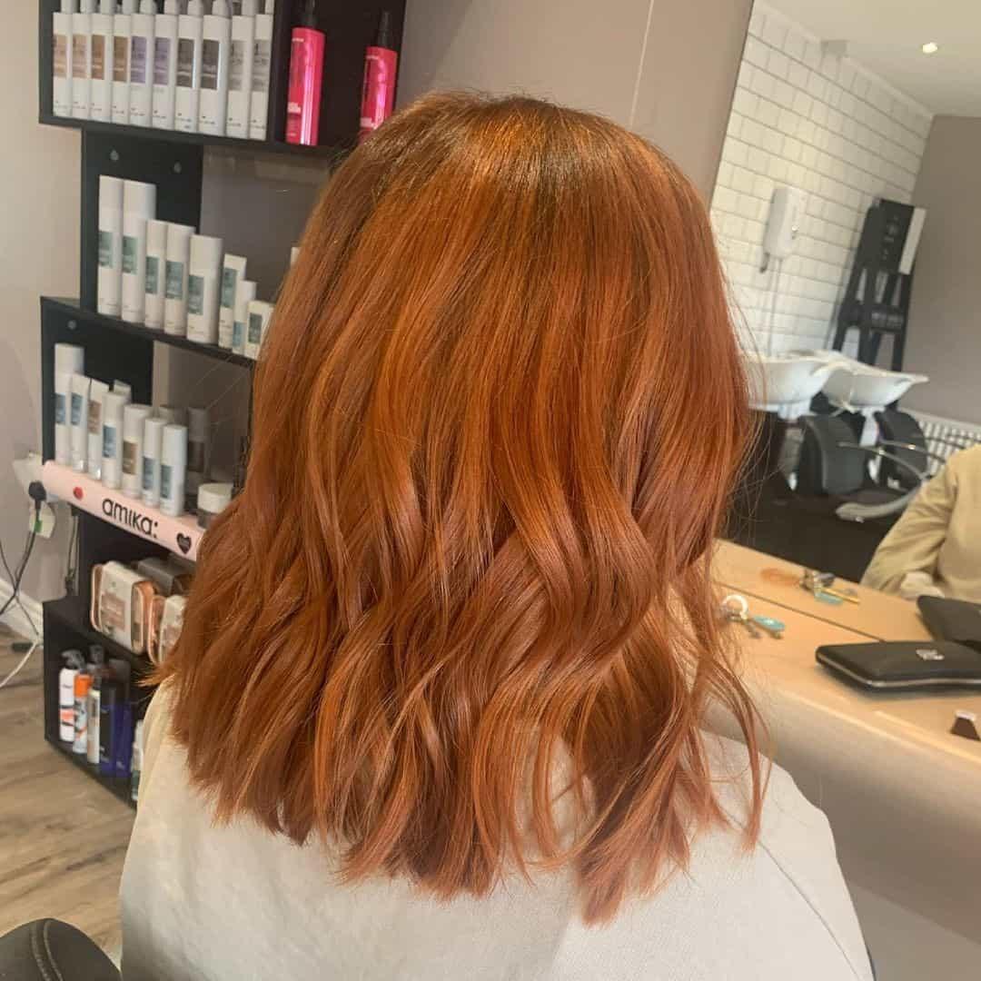 Short Auburn Hair With Waves
