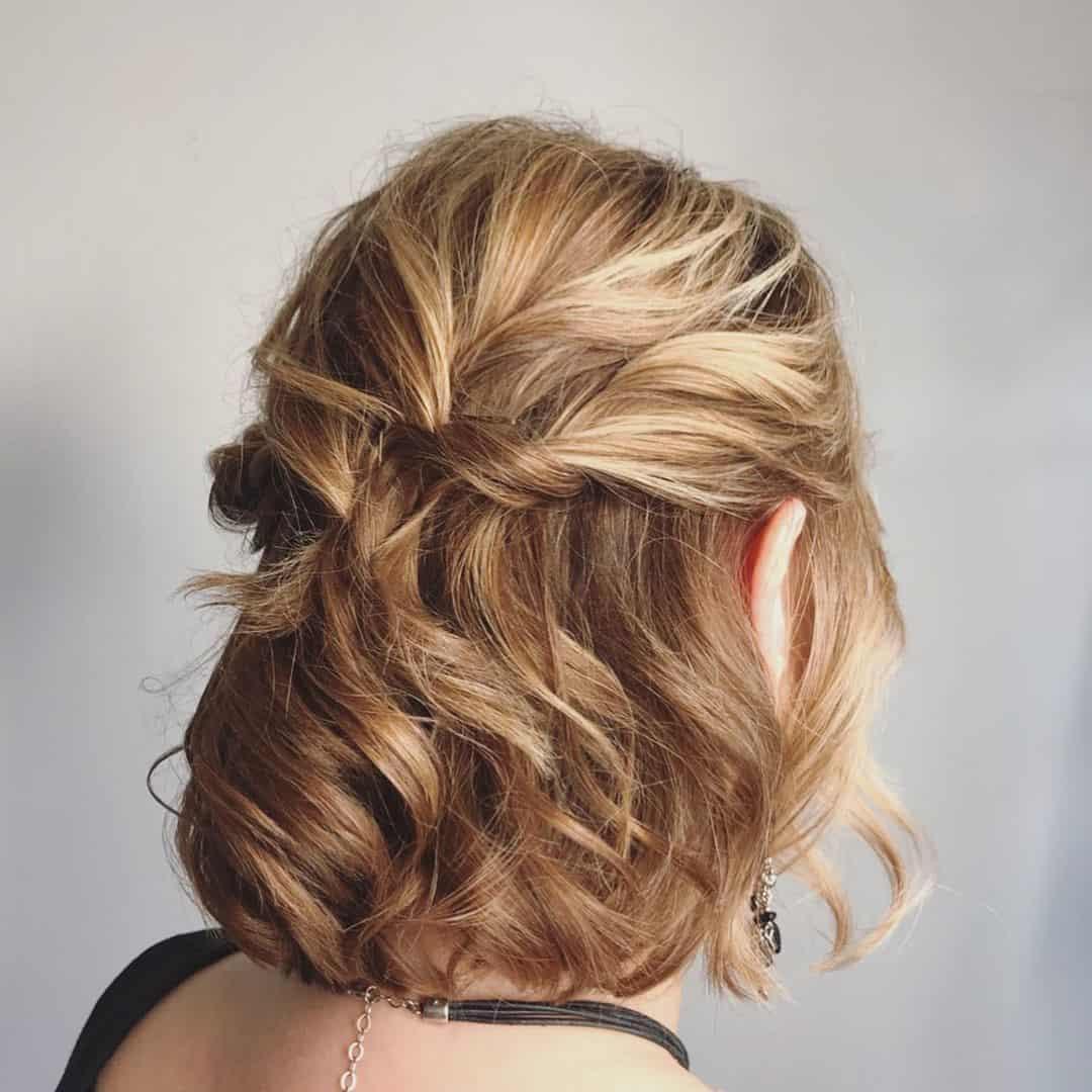 Short Blonde Hair With Braid Detail
