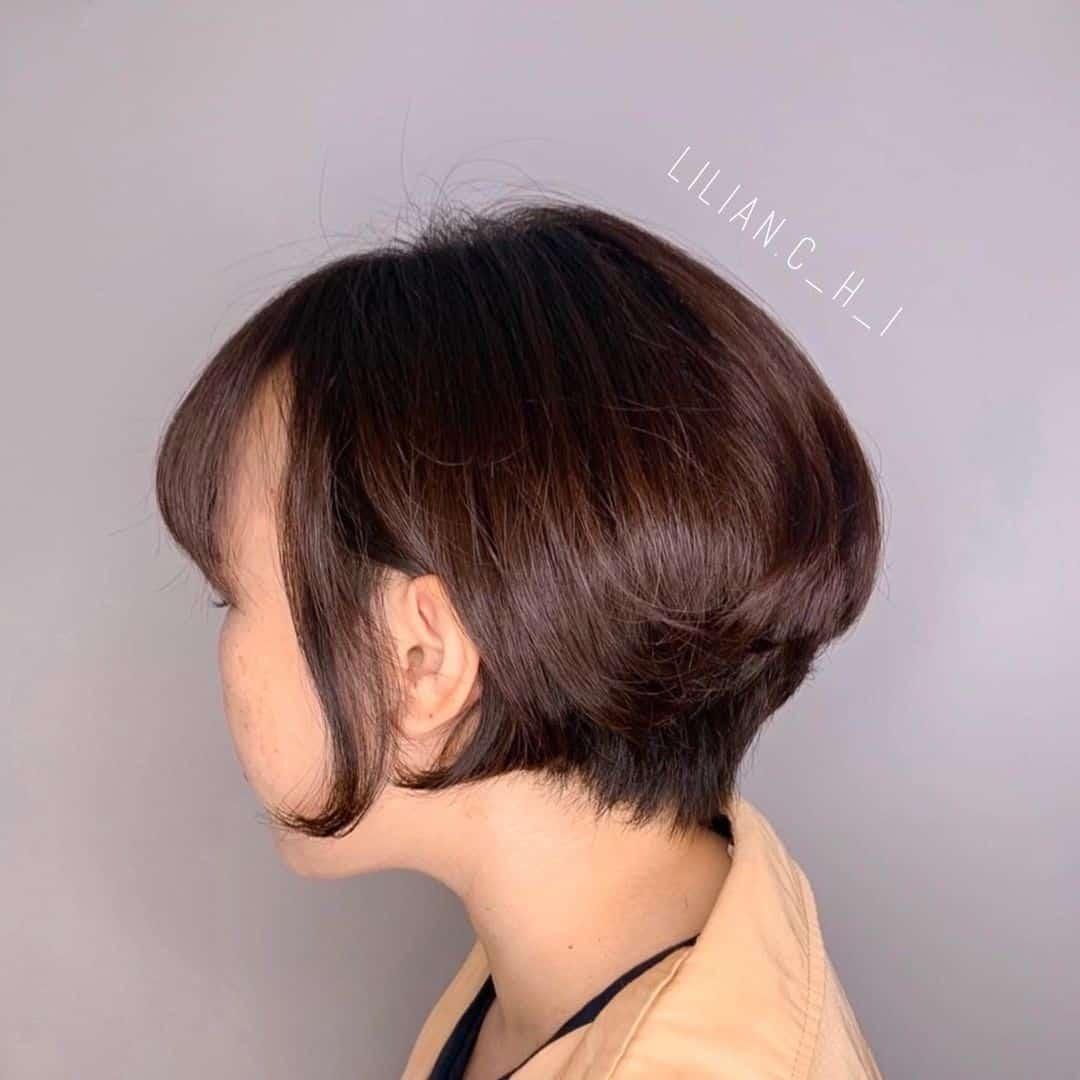 Short Voluminous Hair Little Girl Cut