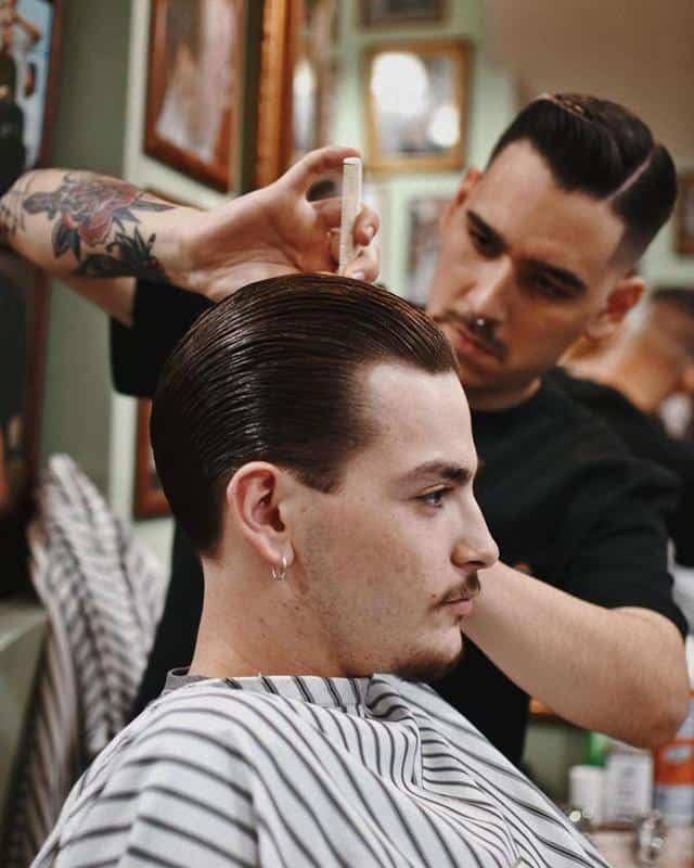 Slicked Back Hair Hairstyles for Receding Hairline 2