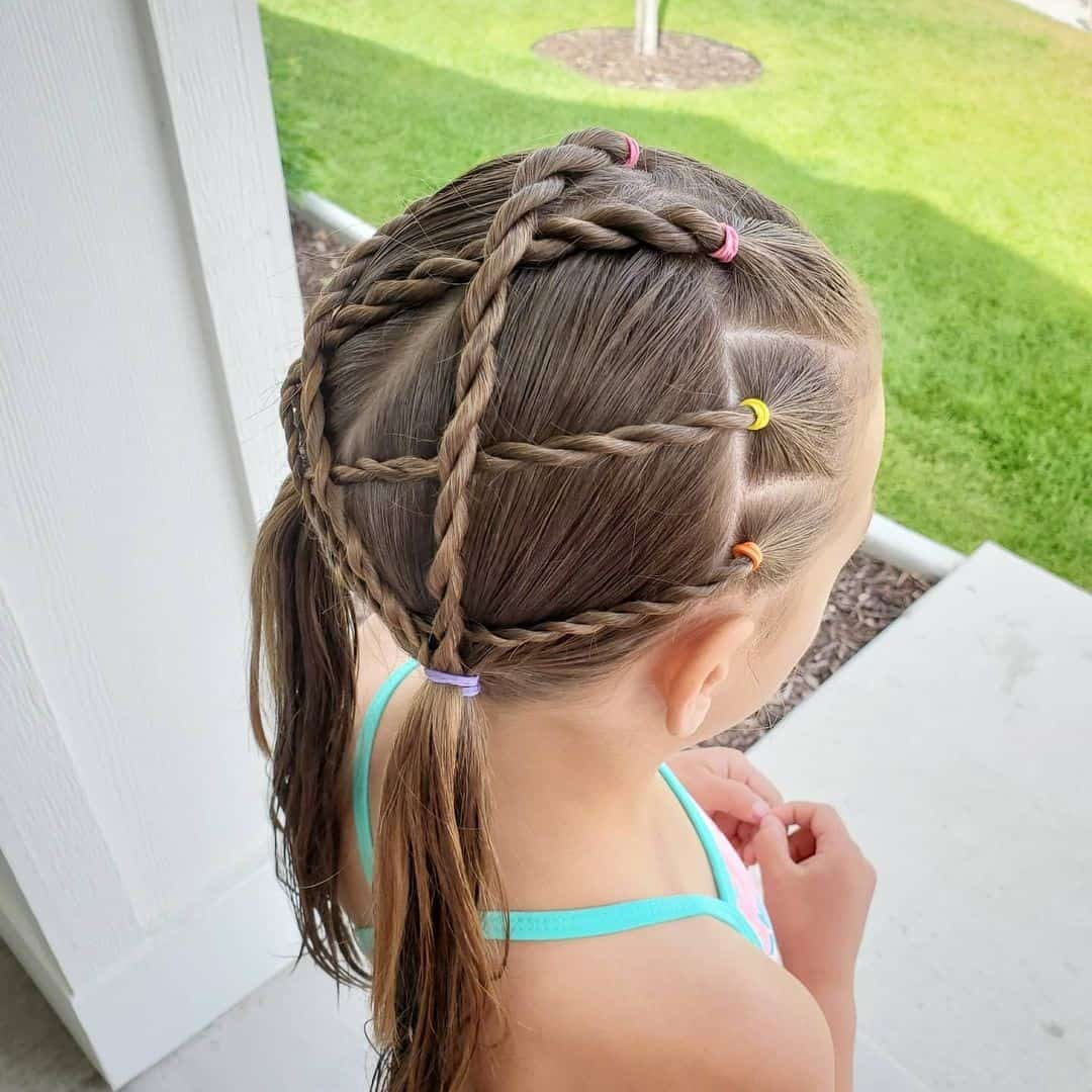 Small & Tight Braid Details For Little Girls